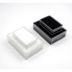 Rectangular Acrylic Gemstone Container-Black-Small