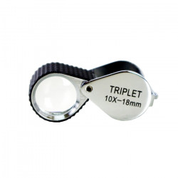 Triplet Loupe with Rubber-grip
