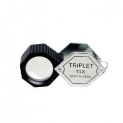 Hexagon Triplet Loupe with Rubber-grip