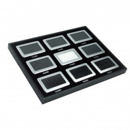 9pcs of Metal Display Boxes with Tray