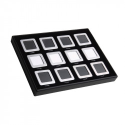12pcs Metal Display Boxes with Tray