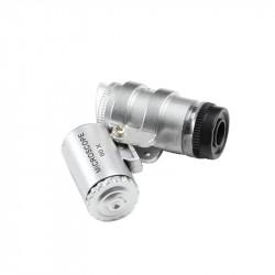 Jeweller LED 60x Magnifier Mini pocket zoom Microscope--UV+DayLight