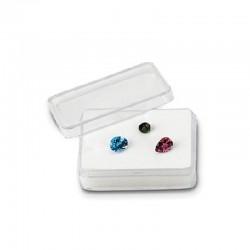 Rectangular Acrylic Gemstone Container-White