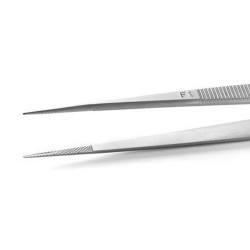 Stainless Gem Tweezers with Grooved Tip