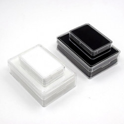 Rectangular Acrylic Gemstone Container-White-Small Size