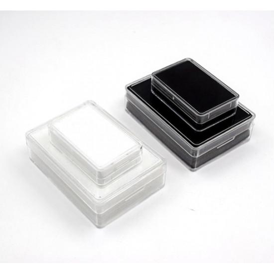 Rectangular Acrylic Gemstone Container-Black-Small
