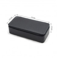 Leather stone parcel box with zipper closure-Large Size