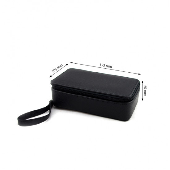 Leather stone parcel box with zipper closure-Small size
