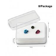Rectangular Acrylic Gemstone Container-Large size-white
