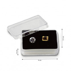 8 Gemstone Tray with BIG Rectangle Containers-Black