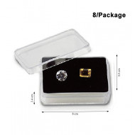 Rectangular Acrylic Gemstone Container-Large size-Black