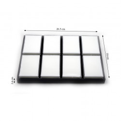 8 Gemstone Tray with Big Rectangle Containers-White