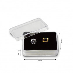 9 Gemstone Tray with Rectangle Containers-Black