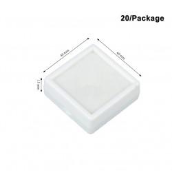 Plastic Box-White-Medium size-40*40mm